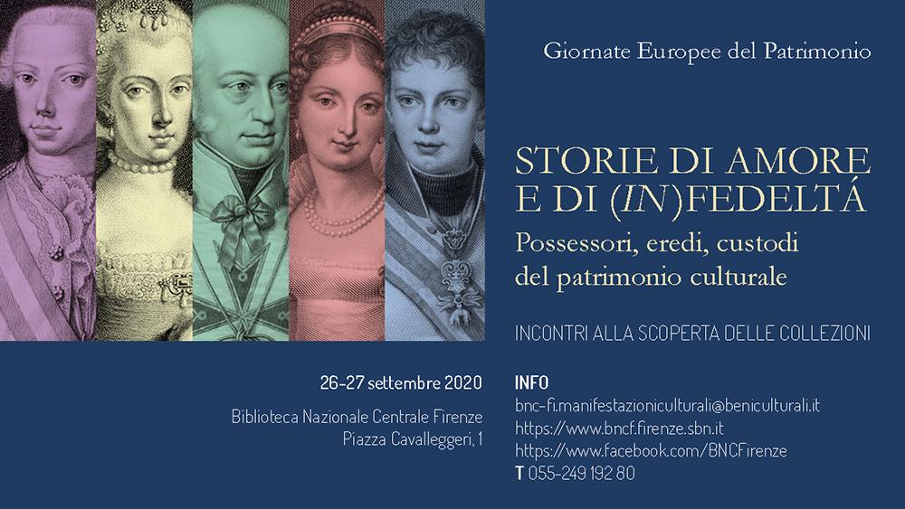 """#GEP2020 """"Storie di amore e di (in)fedeltà. Possessori, eredi, custodi del patrimonio"""""""