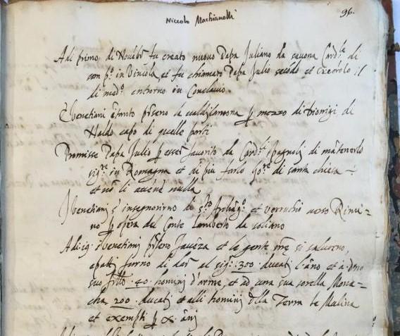 Scoperte pagine sconosciute di Machiavelli alla BNCF