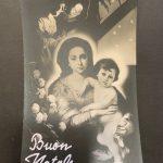 Torino, Bromostampa 1936 (da Bartolomè Esteban Murillo, Madonna col Bambino, Firenze, Galleria Palatina; in alto a sinistra due figure tratte dalla Adorazione del Bambino di Gerrit van Honthorts degli Uffizi)